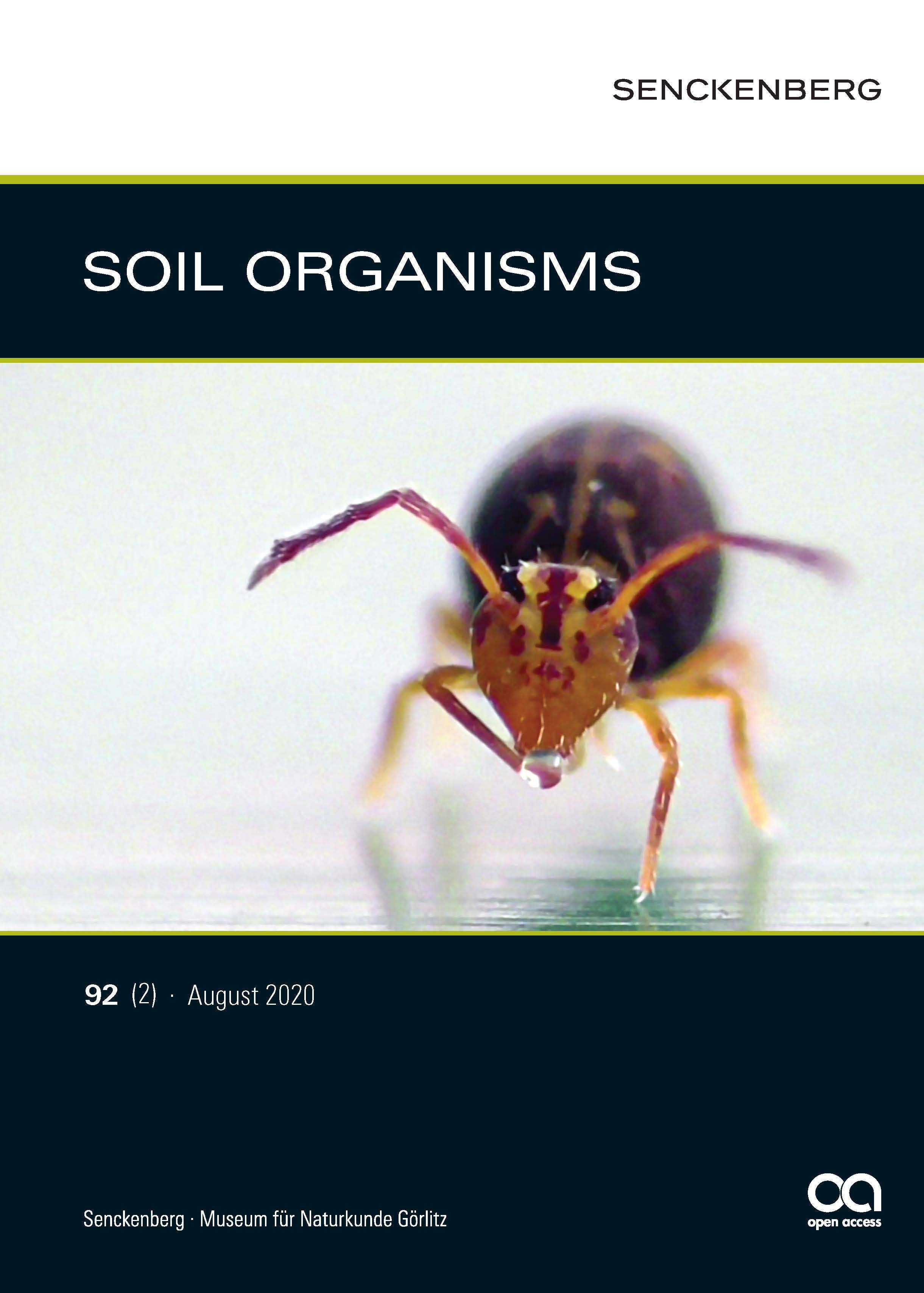 Front cover: Dicyrtominaornata (Nicolet, 1842) by Lothar Lenz  Further free video material of springtails by Lothar Lenz is available via https://www.youtube.com/user/lpf911